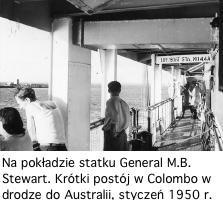 Na statku do Australii - 1950 - foto W. Jędrzejczak